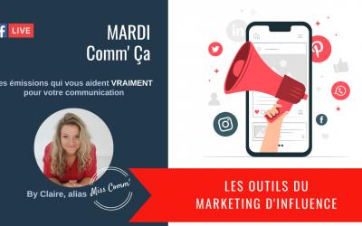 Les outils du marketing d'influence - Miss Comm', organisme de formation datadocké pour marketing et communication