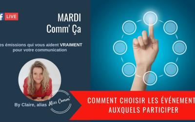 Comment choisir les événements auxquels participer - MissComm - Formation professionnelle datadocké en marketing & communication