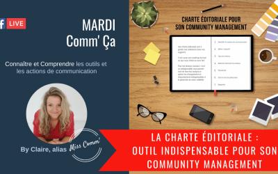 la charte éditoriale pour gérer son community management - Miss Comm' formation social media