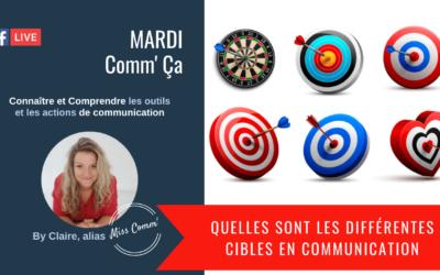 Quelles sont les différentes cibles en communication - Claire Négrier, formation coaching marketing et communication