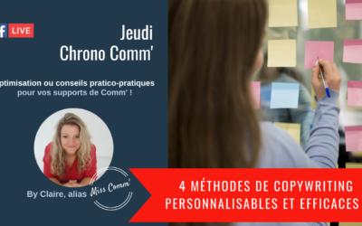 4 méthodes de copywriting vraiment efficaces et personnalisables - Miss Comm', Claire Négrier, coaching et formation marketing