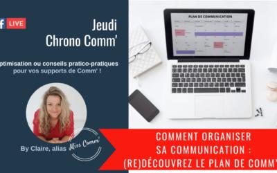 le plan de communication, pour organiser votre communication ! @MissComm, CLaire Négrier - formation et coaching communication
