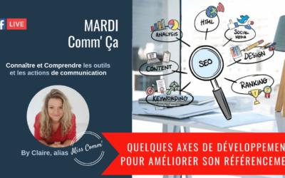 6 axes de développement pour améliorer son référencement - Claire Négrier alias Miss Comm' coaching et formation communication