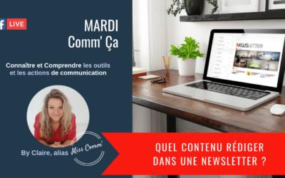 Quel contenu rédiger dans sa Newsletter - MissComm