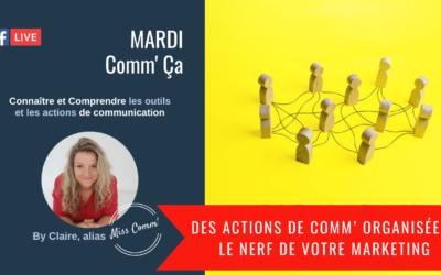 Des actions de communication organisées : nerf de votre marketing ! Miss Comm' Stratégie de communication pour TPE PME