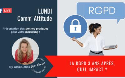 impact de la RGPD 3 ans après - Miss Comm' coaching et formation communication pour entrepreneurs / TPE-PME