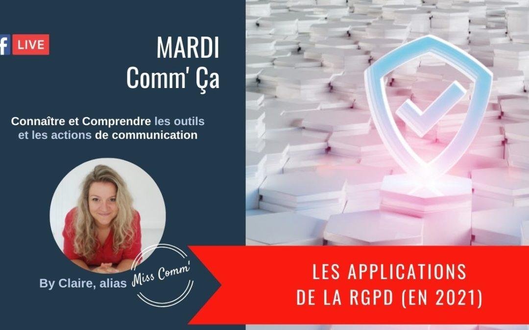 Les applications de la RGPD 2021